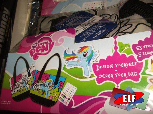 Torebka my little pony do pomalowania, pokolorowania, pomalowania, torebki, zestaw kreatywny, zestawy kreatywne