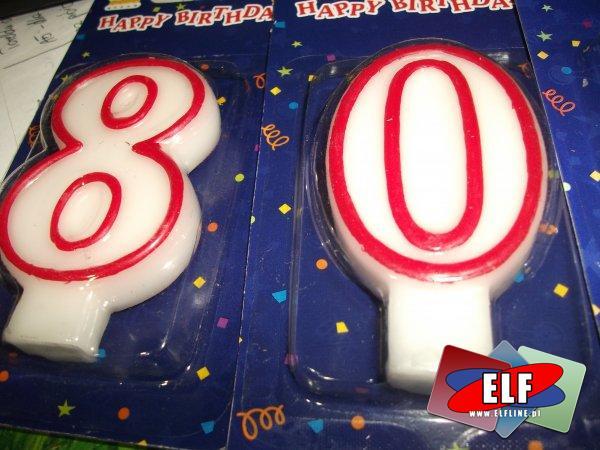 Świeczki urodzinowe cyfry, świeczka urodzinowa, cyfra
