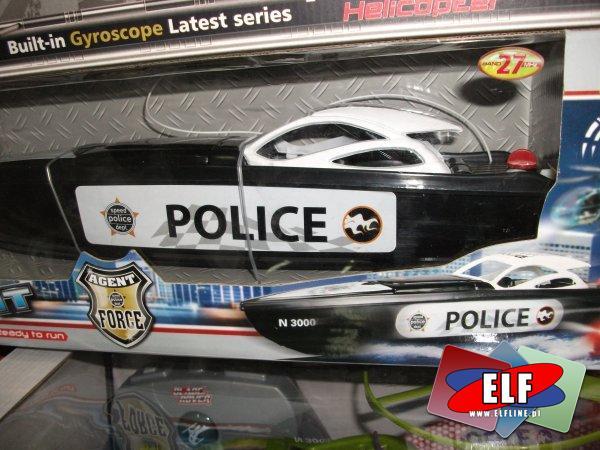 Łódź zdalnie sterowana, policyjna motorówka