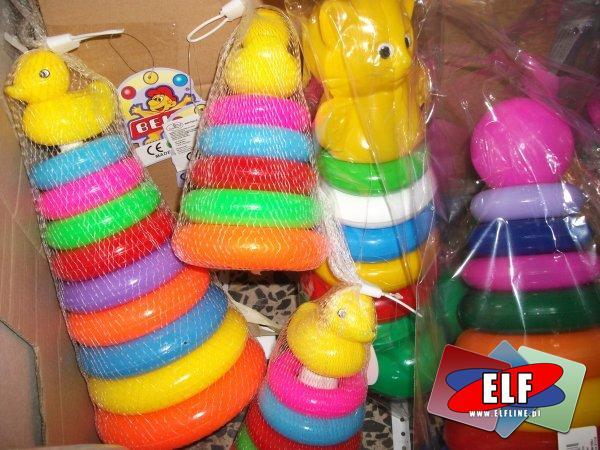 Piramidki plastikowe dla dzieci, piramidka plastikowa dla malucha, maluchów
