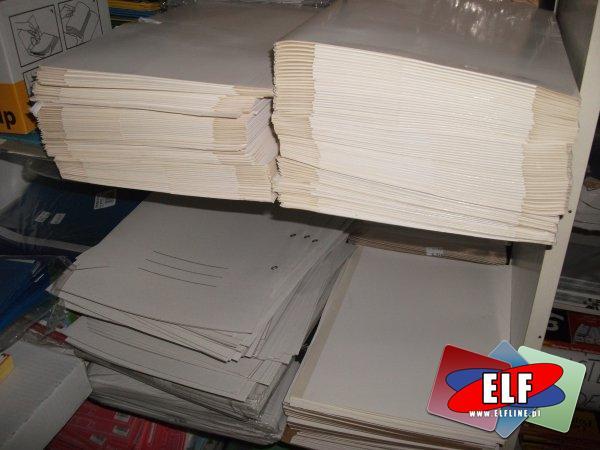 Teczki papierowe z gumką, wiązane i skoroszyty