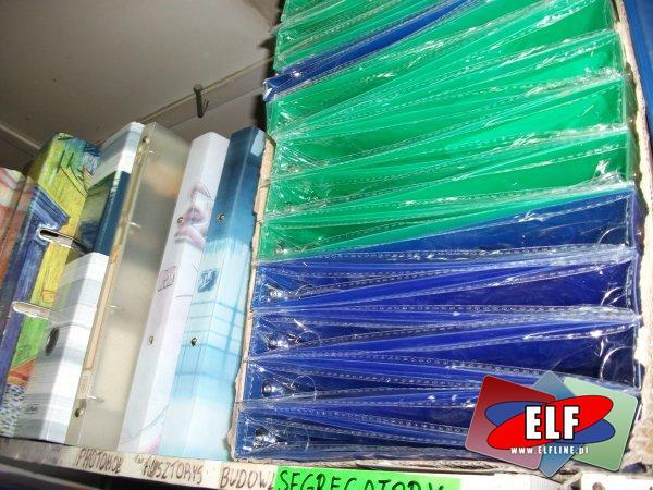 Segregatory plastikowe i papierowe kolorowe