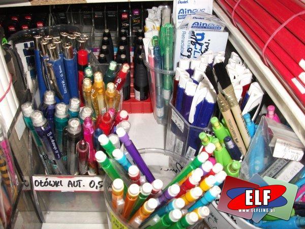 Ołówki automatyczne i zwykłe, ołówki techniczne itp.