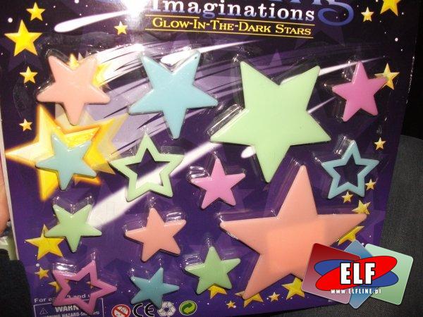 Gwiazdki, ozdoby na ścianę fosforyzujące, świecące w nocy, gwiazdka, ozdoba