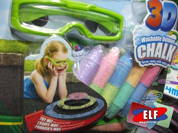 Kreda 3D z okularami, kredy