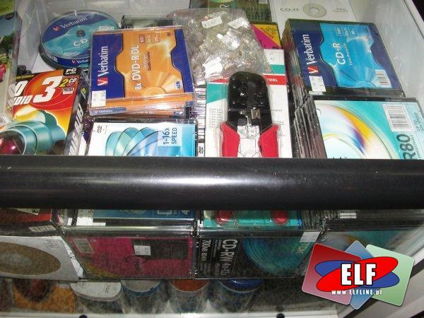 Płyty CD, DVD, Zaciskarka, Komputerowe, Pendrive, pamięci USB, środki czyszczące do monitorów, komputerów, płyta