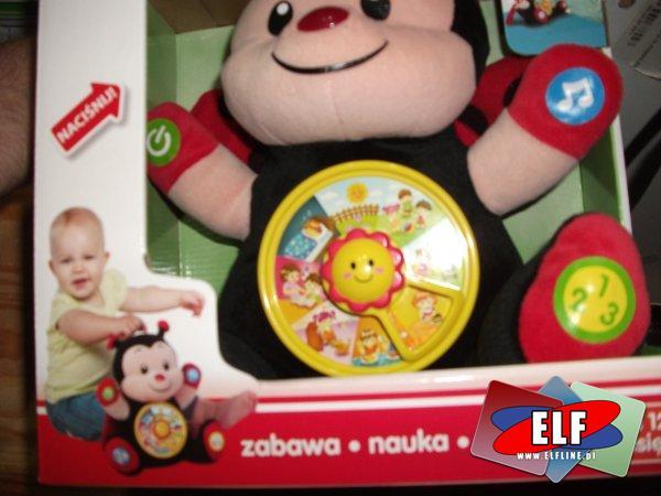 Zabawka interaktywna biedronka, uczy, bawi, do nauki, zabawy, zabawki interaktywne