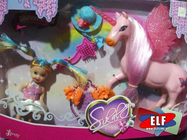 Lalka z konikiem, lalki, koń, konie, konik, koniki, jednorożec, jednorożce