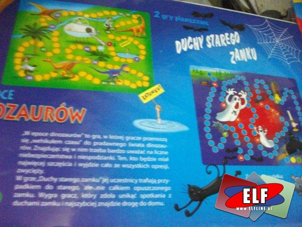 Gra, gry, nawlekaj nie czekaj, literkobranie, pamięć 3D, literka do literki, loteryjka obrazkowa, w epoce dinozaurów i duchy starego zamku