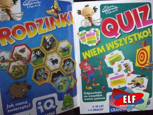 Gra iq granna, 2x2 gra w pary, quiz ortograficzny, rodzinki, quiz wiem wszystko, gry