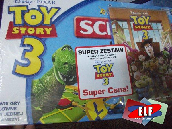 Gra scrable toy story 3 junior z filmem na DVD, gry