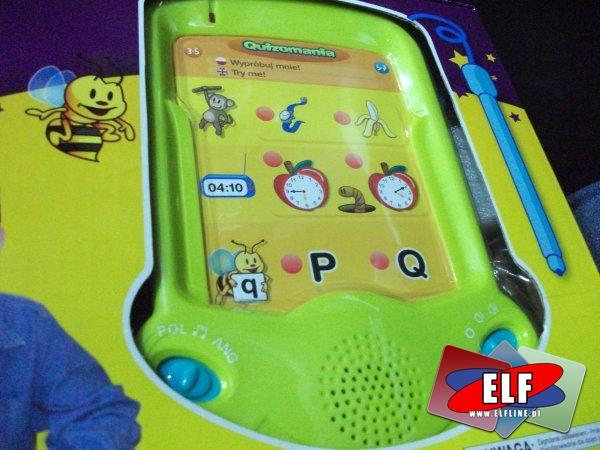 Gra quizomania, przenośna konsola edukacyjna, gry
