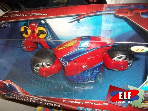 Spiderman cyber cycle, zdalnie sterowany pojazd, zdalnie sterowane, pojazd, pojazdy, na radio, pilota
