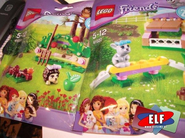 Klocki lego friends Animal no 2, 41020 Kryjówka jeża, 41021 Pałacyk pudla, 41022 Klatka królika