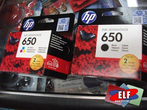 Tusz, tusze HP 650
