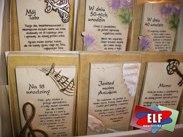Elegancka tabliczka pamiątkowa z okazji dnia ojca, matki, taty, mamy, urodzinowe, na urodziny, na 18-nastkę, 18 naste urodziny, na 50 urodziny, na 40 ...