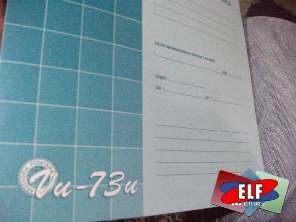 Ewidencja (oczywistych) pomyłek dla kasy rejestrującej, ewidencje, druk, druki, vu-73u