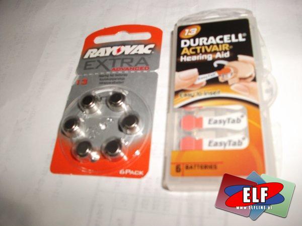 Baterie do aparatów słuchowych, zegarków, kalkulatorów itp. bateria