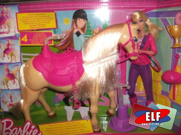 Barbie lalka, lalki z koniem, konikiem, koń, konie, konika