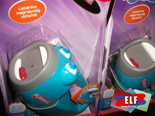 Latarka zabawka która naprawdę świeci, dźwiękowa, ponad 15 fraz, latarki