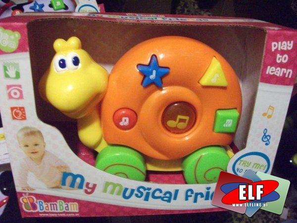 Zabawki z dźwiękiem i światłem, pojazdy, pies i ślimak, zabawka dźwiękowa, świetlna