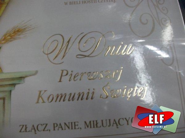 Karnety ślubne i komunijne, kartki, pamiątki