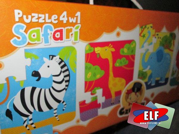 Czu Czu Puzzle podróżnika, Safari 4 w 1, Puzzle Dinozaury 4 w 1, edukacyjne, CzuCzu