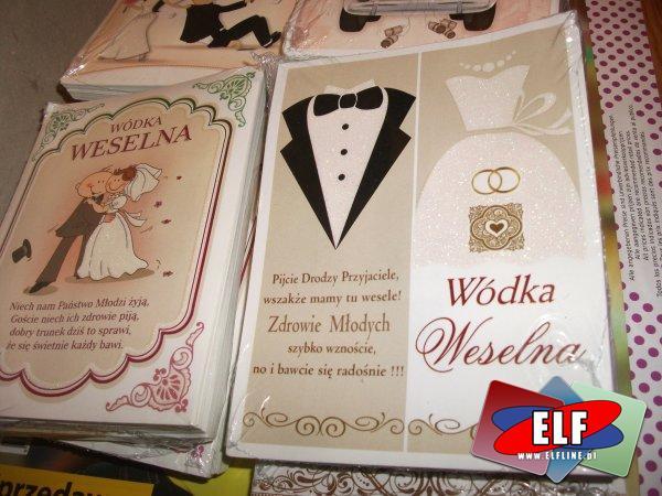 Naklejki na wódkę weselną, naklejka, wesele, ślub, ślubna, ślubne, wódka, alkohol