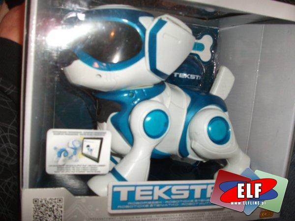 Piesek interaktywny TEKSTA zabawka interaktywna, pies, psy, robi salto, siada, aplikacja na tablet, interaktywna kość itp.