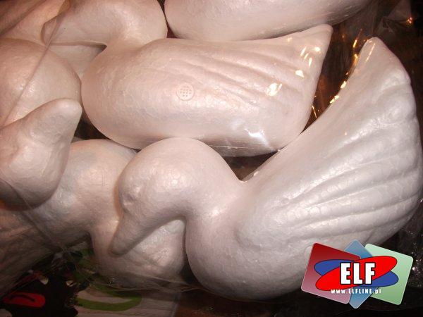 Ozdoba ze styropianu Baranek Wielkanocny, ptak, kaczka Baranki, ptaki, kaczki wielkanocne, ozdoby styropianowe