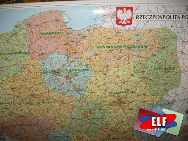 Mapy, Mapa, administracyjno-drogowa, administracyjne, drogowe polski