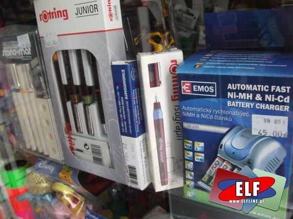 Baterie i ładowarki, Rapidograf, Rapidografy, Aerograf,