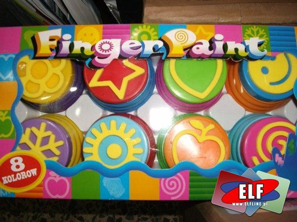 Farby do malowania palcami, dla dzieci, z pieczątkami