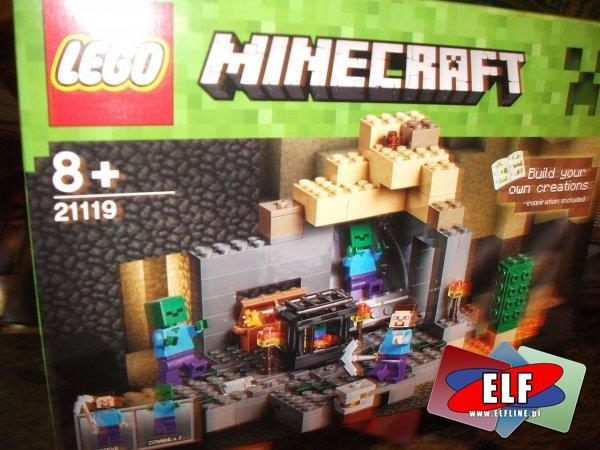 Lego Minecraft 21119 loch, 21120 śnieżna kryjówka, klocki