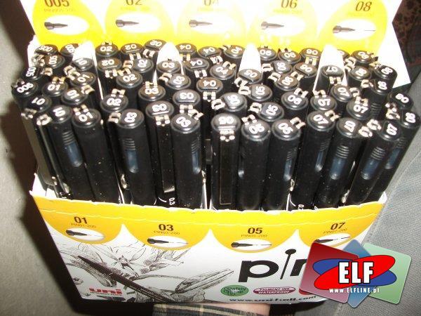 Pisaki techniczne UNI PINI 0,05 mm do 0,8 mm, pisak techniczny