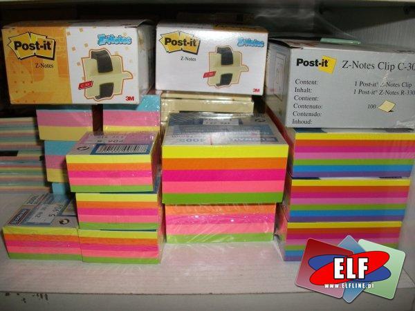 Kostki papierowe, zwykłe i samoprzylepne, karteczki samoprzylepne