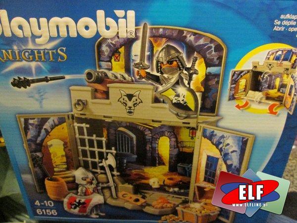 Playmobil Knights, Rycerze, 6156 Skarbiec z rycerzami, Box z rycerskim skarbem, klocki