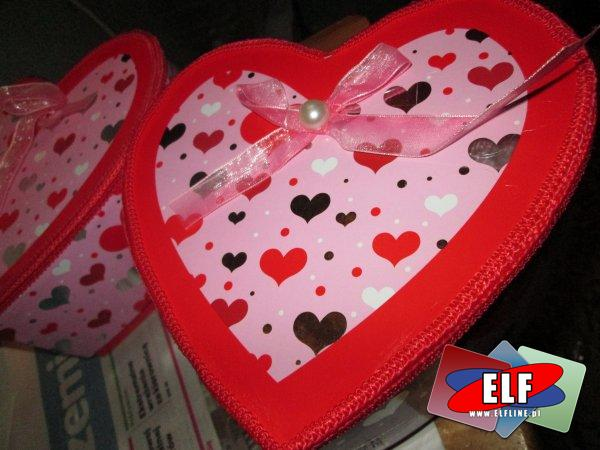 Pudełka serca na prezenty, pudełko serce na prezent, opakowanie prezentowe, opakowania prezentowe