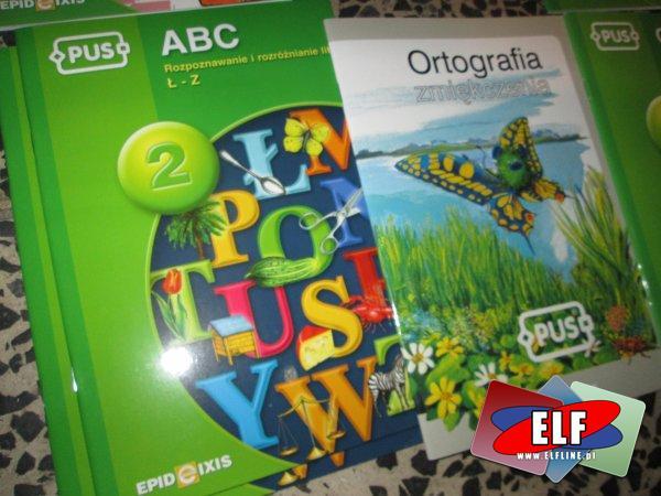 Książki edukacyjne PUS, Matematyka na wesoło, Matematyka konkretna, To już potrafię, Słowniczek, ABC, Kto? Co?, Ortografia, Co robi? CO robią?, Jaki? ...