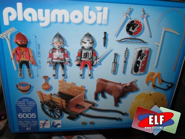 Playmobil, Knights, Rycerze, 6038 Olbrzymia armata rycerzy herbu Sokoła, 6041 Oddział bojowy rycerzy herbu Wilka, 6005 Zamaskowany powóz rycerzy herbu...