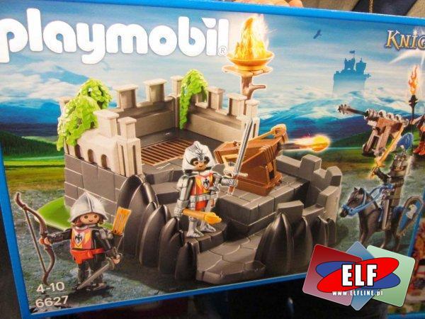 Playmobil, 6627 Knights Zamek rycerze, 6680 Wieża wojskowa z oświetleniem, 6628 Wieża oblężnicza rycerzy herb Orzeł, 5972 Przenośna Walizka Bitwa Ryce...