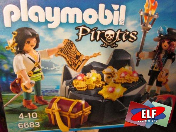 Playmobil Piraci, Pirates, 6683, Ukrywanie skarbu, klocki