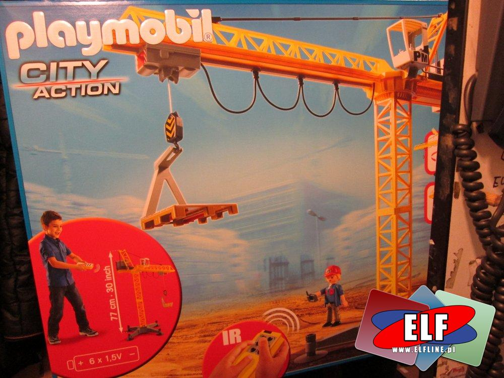 Playmobil 5466, wielki zdalnie sterowany dźwig, żuraw, klocki