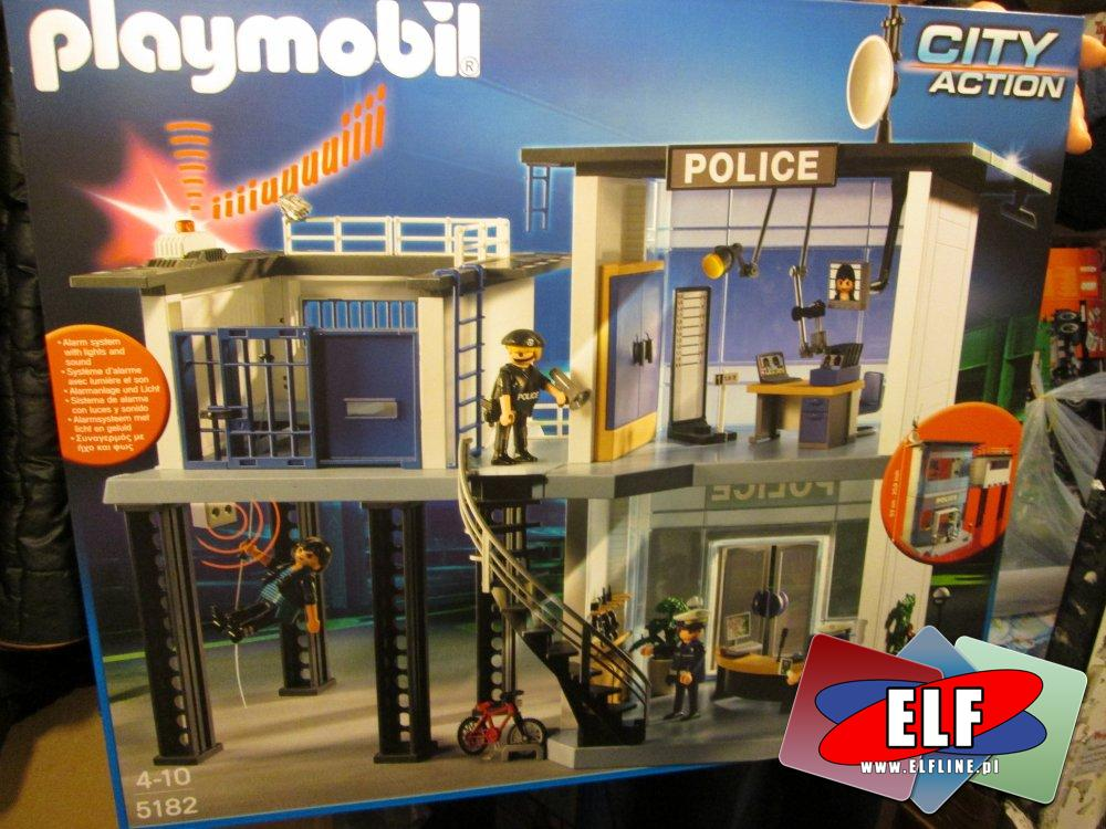 Playmobil 5182 komisariat policji, 5564 Pojazd jednostki specjalnej ze światłem i dźwiękiem, klocki, policja