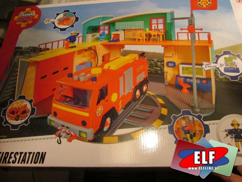 Straż pożarna, Fireman SAM, strażak sam, samochód straży pożarnej, remiza