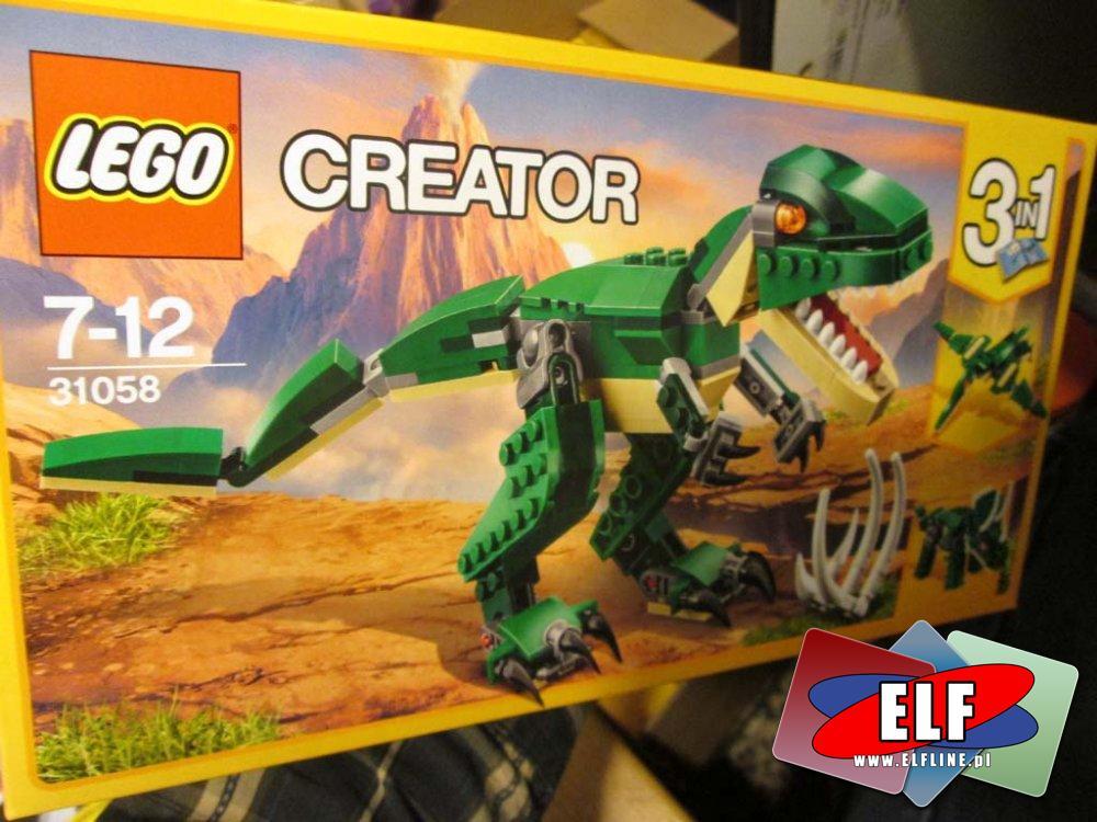 Lego Creator, 31058 Potężne dinozaury, 31056 Zielony krążownik, 31057 Władca przestworzy, 31054 Niebieski Ekspres, klocki