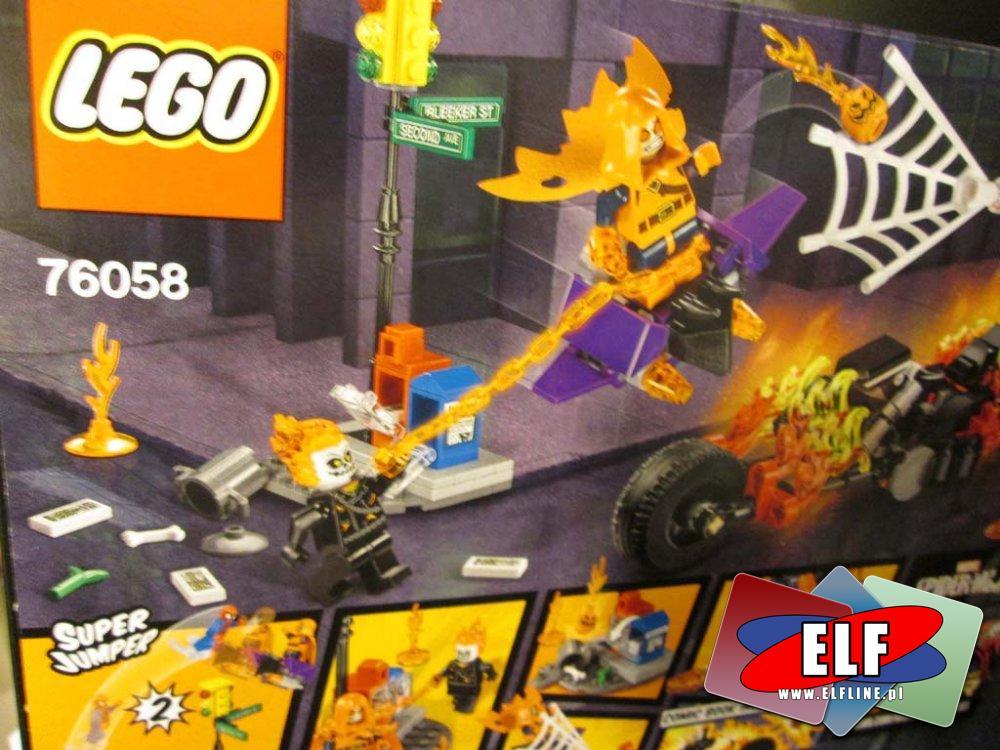 Lego Super Heroes, 76058 Atak Upiornych Jeźdźców, SpiderMan, Marvel, Spider Man, Klocki