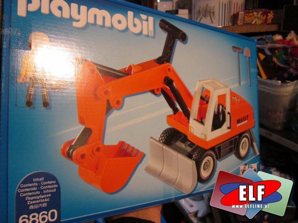 Playmobil City, 6860 Koparka kołowa, spychacz, klocki