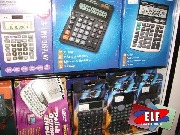 Kalkulatory zwykłe, funkcyjne, graficzne i tłumacze językowe