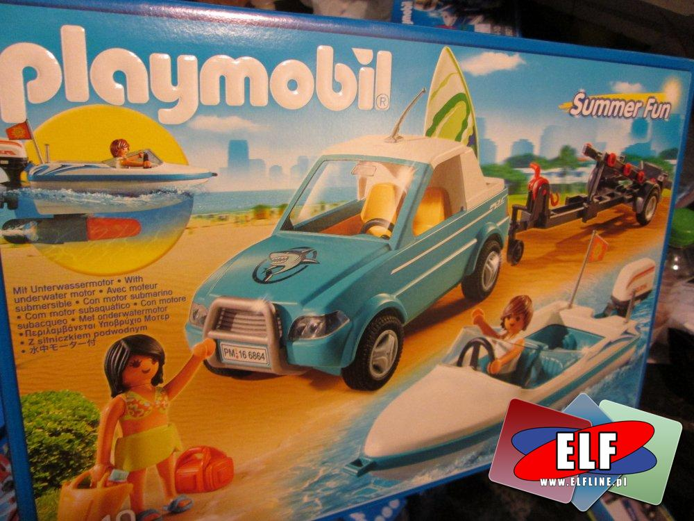 Playmobil Wakacje, 6864 Pickup łodka, surfer, klocki